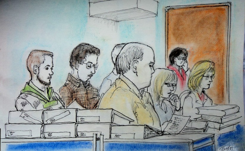 Courtroom Sketches: a 30 year history.