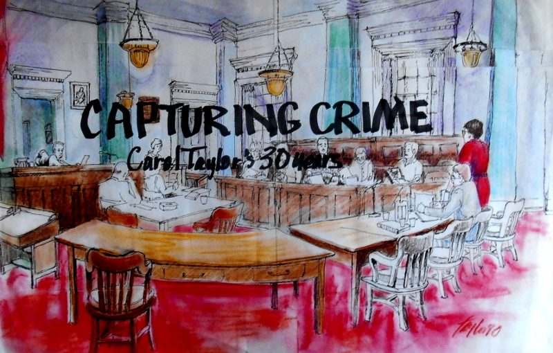 """Capturing Crime"" a full colour book of court sketches"
