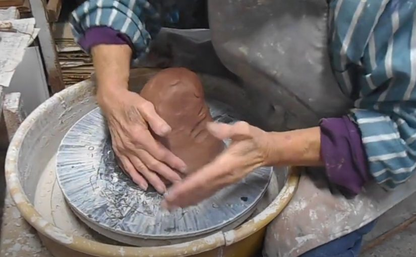 The pottery making process