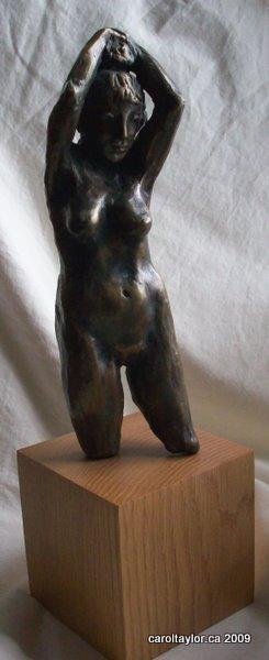 Bronze female figure