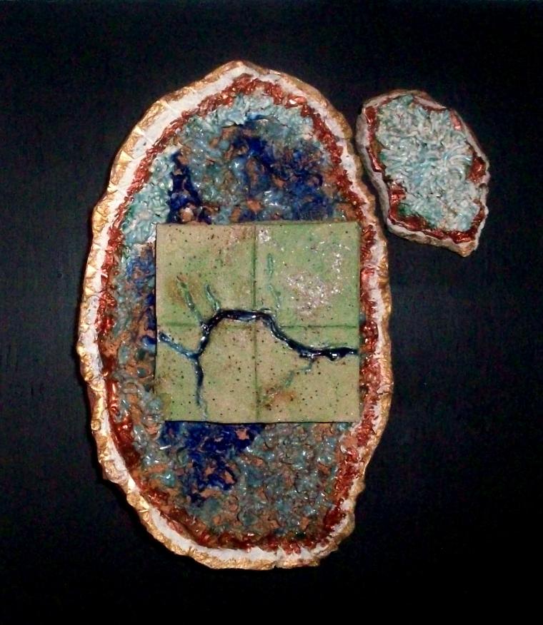 St. John River Geodes – Fredericton, mixed media